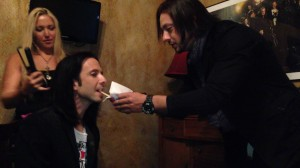 Angelo feeding Sal