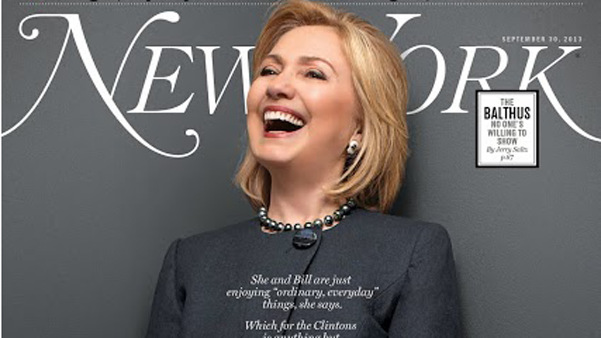 Hillary Clinton On The Cover Of New York