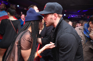 Zoe Kravitz and Kellan Lutz at Elyx presents TAO Nightclub at Sundance